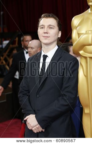 LOS ANGELES - MAR 2:  Paul Dano at the 86th Academy Awards at Dolby Theater, Hollywood & Highland on March 2, 2014 in Los Angeles, CA