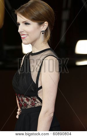 LOS ANGELES - MAR 2:  Anna Kendrick at the 86th Academy Awards at Dolby Theater, Hollywood & Highland on March 2, 2014 in Los Angeles, CA