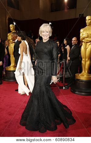 LOS ANGELES - MAR 2:  Glenn Close at the 86th Academy Awards at Dolby Theater, Hollywood & Highland on March 2, 2014 in Los Angeles, CA