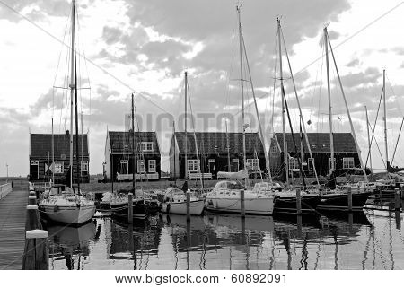 Yachts   on a  harbor