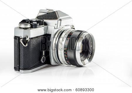 retro photo camera isolated on white