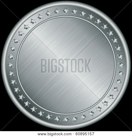Silver medal, vector illustration