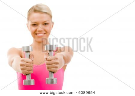 Barbells In Hands