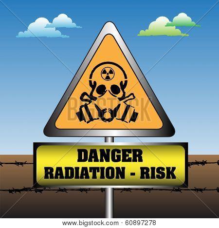Radiation risk plate