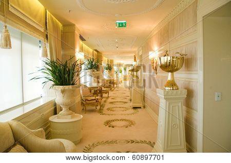 BAKU, AZERBAIJAN - JUNE 11: Ambassador suite of Jumeirah Bilgah Beach Hotel on June 11, 2012 in Baku, Azerbaijan. Jumeirah Bilgah Beach Hotel is first Jumeirah hotel in Azerbaijan