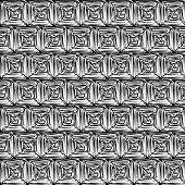 image of hypnotizing  - Black and White Hypnotic Background Seamless Pattern - JPG