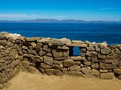 Ancient Ruins On The Island Of The Sun And Titicaca Lake