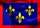 stock photo of anjou  - 3D Flag of Anjou - JPG