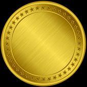 image of medal  - Gold medal blank golden medal vector illustration - JPG