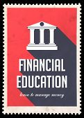 pic of long distance  - Financial Education on Red Background - JPG