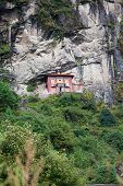Monastery In High Mountains In Khumbu Region, Himalayas, Nepal