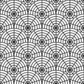 Design Seamless Monochrome Spider Web Pattern. Monochrome Geometric Circular Diagonal Background