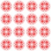 Design Seamless Colorful Floral Decorative Pattern. Abstract Circular Geometric Background