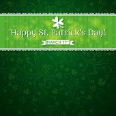 foto of shamrock  - Card for St - JPG
