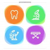 image of stretcher  - Medicine and healthcare theme - Tooth Microscope Dental-chair Stretcher.