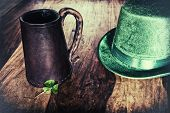 stock photo of shamrocks  - A Saint Patrick - JPG