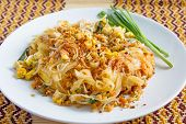 stock photo of rice noodles  - Thai food Pad thai Thai style noodles - JPG