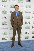 SANTA  MONICA - MAR 1: Paul Dano at the 2014 Film Independent Spirit Awards at Santa Monica Beach on