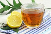 Tea with fresh lemon