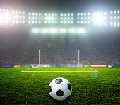 stock photo of football pitch  - On the stadium - JPG