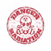 Radiation grunge rubber stamp