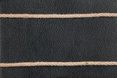 The Two Ropes Lie On Natural Leather