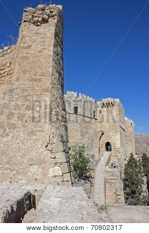 The castle of Lindos, Rhodes