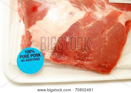 Close-up Of Bone-in Pork Ribs In A Package