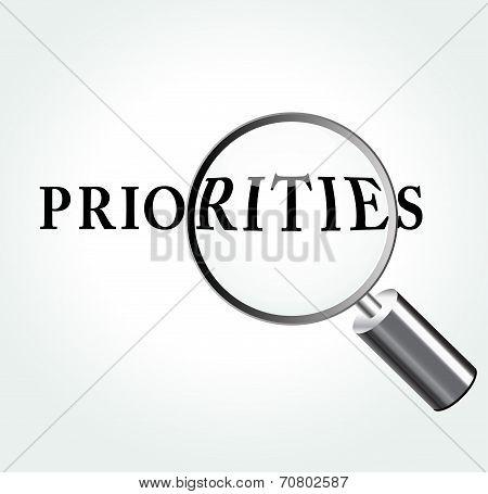 Priorities Concept Illustration