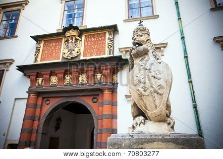 Lion Statue At The Royal Palace Hofburg, Vienna