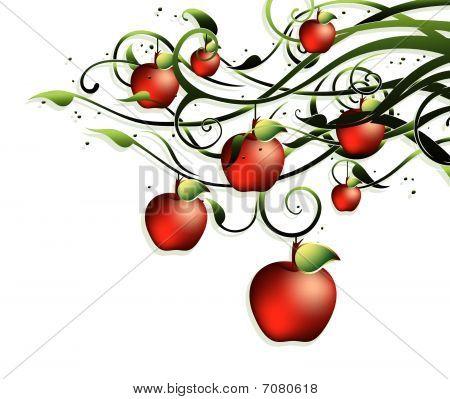 Background apple