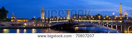 Les Invalides, Pont Alexandre Iii And The Eiffel Tower In Paris