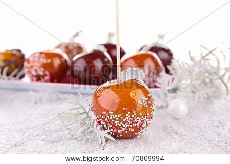 toffee apple, caramel apples on sticks