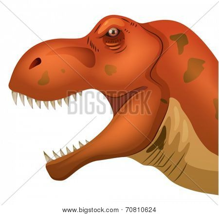 Illustration of a closeup of tyrannosaurus head