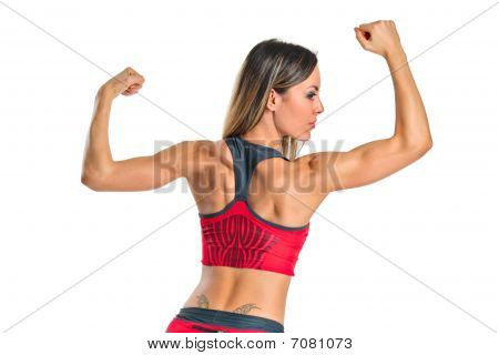 A female athlete