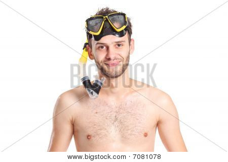 Diver in bathing clothes