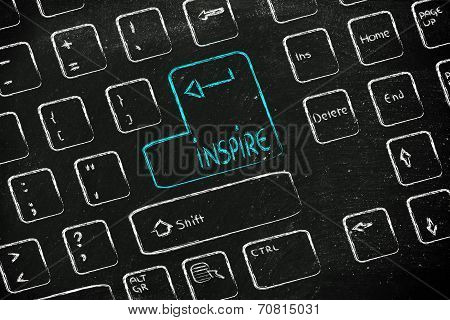 Computer Keyboard With Special Key: Inspire