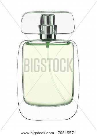 Fragrance bottle. Feminine beauty concept.