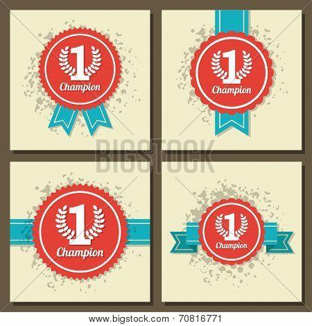 Illustraion of flat design award signs
