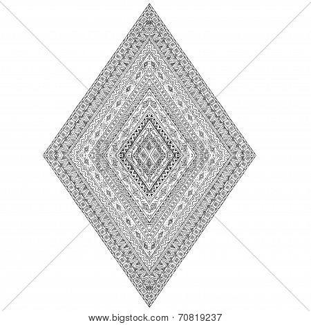 Henna Paisley Mehndi Doodles Design Element.