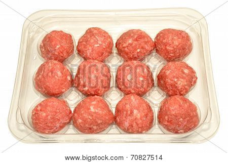 Pack Of Raw Meatballs