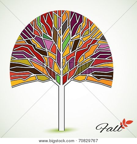 Organic fall tree