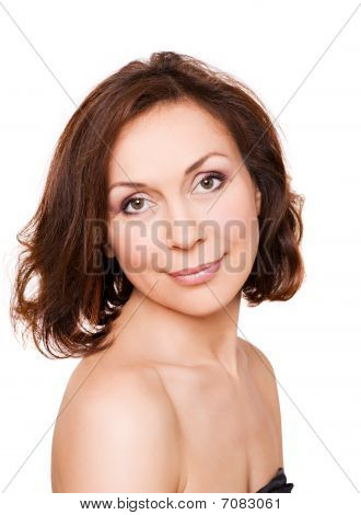 Portrait  Of Professional Model Without Make-up