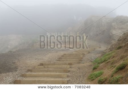 Stairs In The Fog