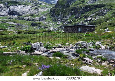 In The Rila Mountains In Bulgaria