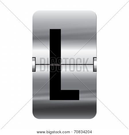 Silver Flipboard Letter - Departure Board - L