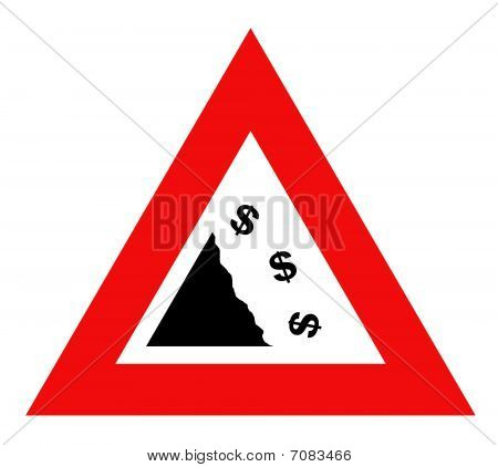 Falling Dollar Currency Sign