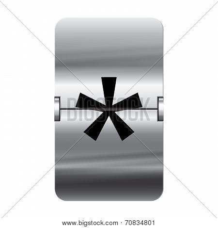 Silver Flipboard Letter - Departure Board - Star