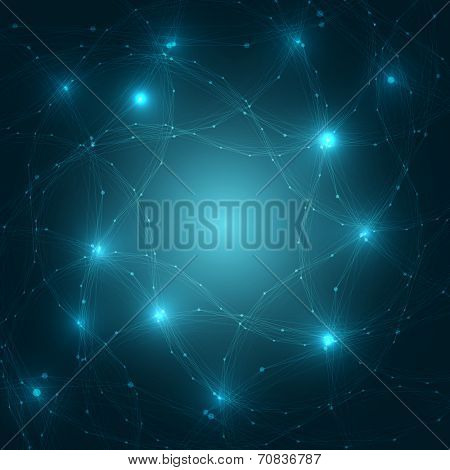 Abstract Brain Network Background | EPS10 Vector Illustration