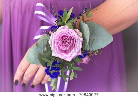 Floristic Composition In Vintage Style. The Provence. Bridesmaids Flowers.